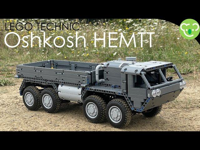 8x8 Offroad truck inspired by Oshkosh HMETT - LEGO Technic powered by Buwizz