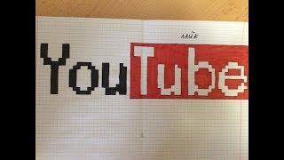 Урок #16. Как нарисовать слово YouTube по клеточкам.