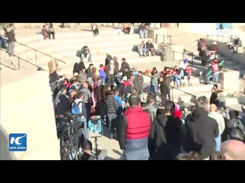 LIVE: Protests at Damascus Gate against Trump's recognition of Jerusalem as Israel's capital