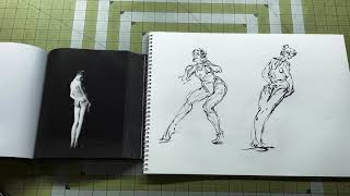 Daily Figure Drawing From a Pose Book Standing Lean