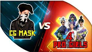 CG MASK VS 4 PRO GIRLS 1 VS 4 😳