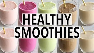 7 Healthy Breakfast Smoothies! (Easy Recipe Ideas)
