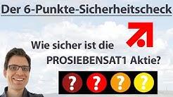 PROSIEBENSAT1: Wie sicher ist die Aktie? | 6-Punkte-Check | Aktien-Analyse (+Rangliste)