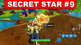 SECRET BATTLE STAR WEEK 9 SEASON 6 LOCATION! - Fortnite Battle Royale (Hunting Party Challenges)