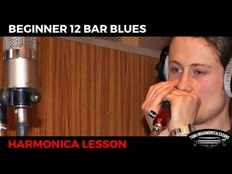 Beginner Harmonica 12 Bar Blues - C Harmonica Lesson + Free harp tab
