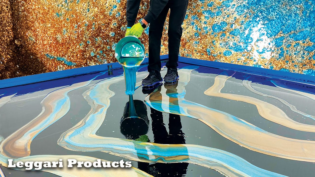Epoxy Dirty Pour On A Floor