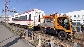 [廃車回送から1週間、、、]名鉄1700系1701F+1702F 東名古屋港発車