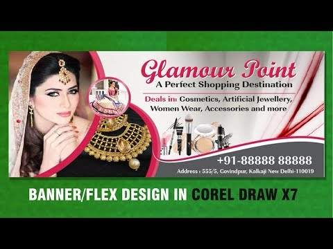 Flex Design In Coreldraw X7 Billboard Design Beauty Salon Banner Membuat Spanduk Tutorial Youtube