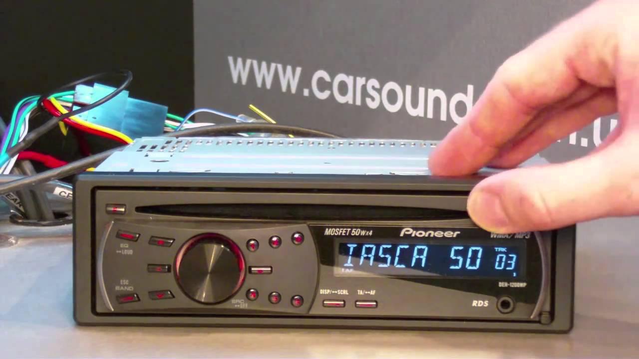 pioneer deh 1200mp wiring diagram 2 led strip youtube