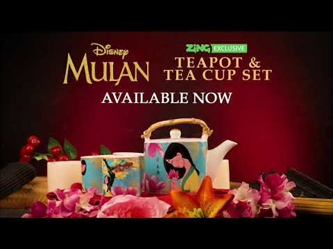 Disney - Mulan - Teapot and Tea Cup Set - Video
