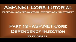 ASP NET Core dependency injection tutorial
