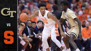 Georgia Tech vs. Syracuse Basketball Highlights (2018-19)