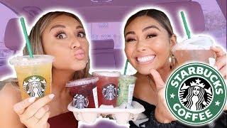 Trying My Subscribers FAVORITE Starbucks Drinks ft. Roxette Arisa | YesHipolito
