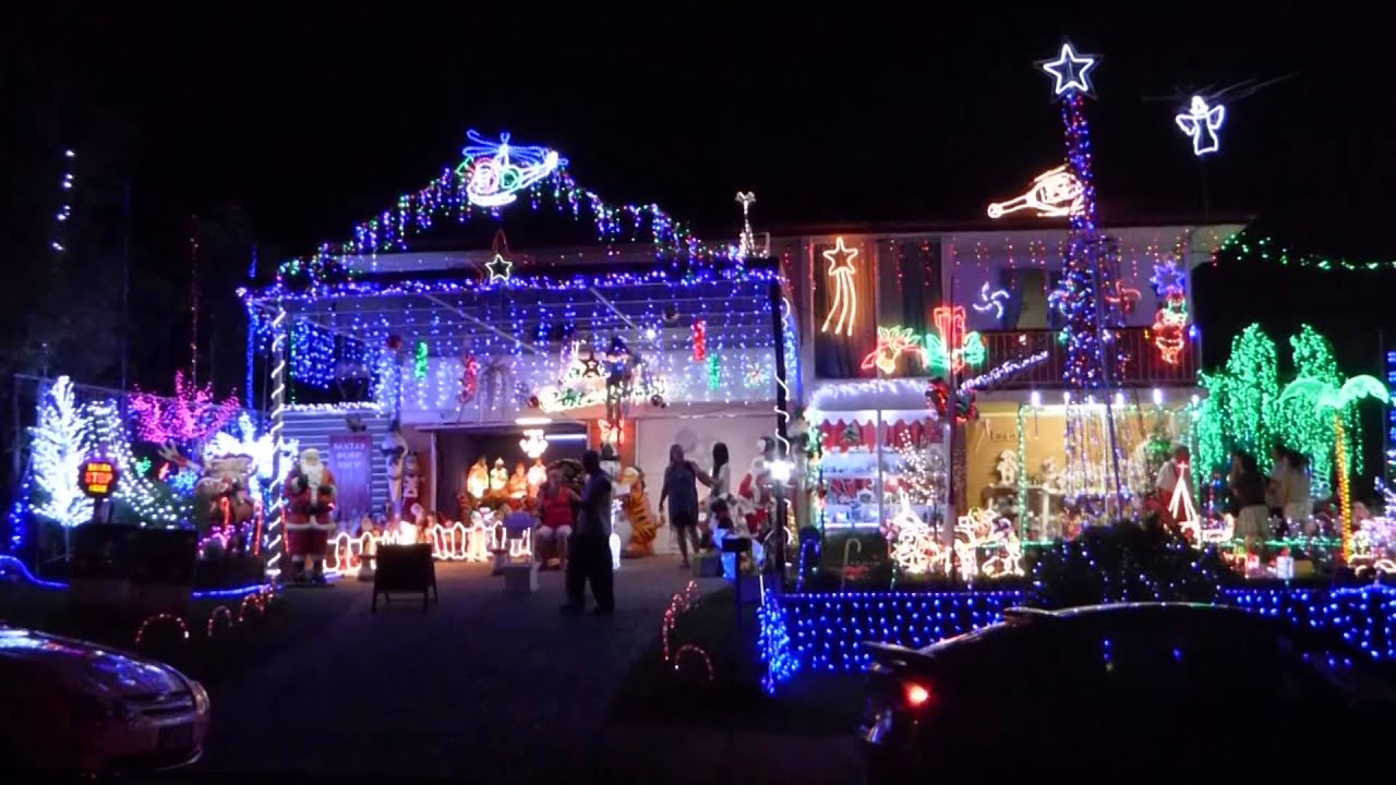 2014 brisbane christmas lights darcy road carina