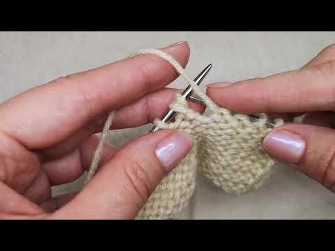 №35 Как вязать 2 изнаночные петли с наклоном ВЛЕВО  Классический способ вязания