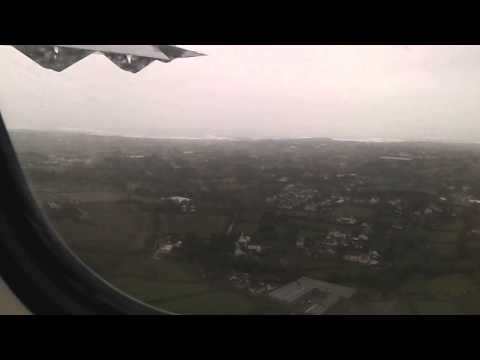 Rough approach & aborted landing at Guernsey