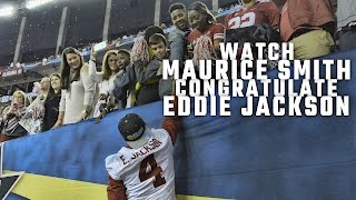 Watch Maurice Smith congratulate former Alabama teammate Eddie Jackson