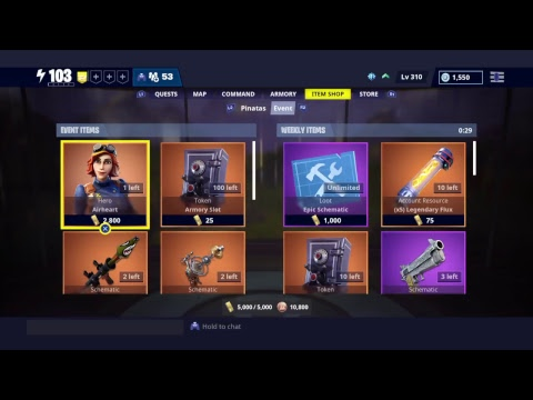 Fortnite Save The World STW - Weekly Item Shop 27th December 2018