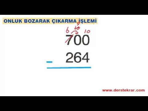 1.Sınıf Matematik Çıkarma İşlemi Problemleri