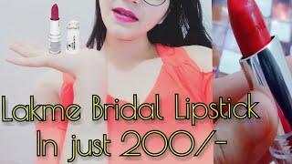 Lakme Enrich Satin Lipstick Review || Superb Lipstick under 200 Rs