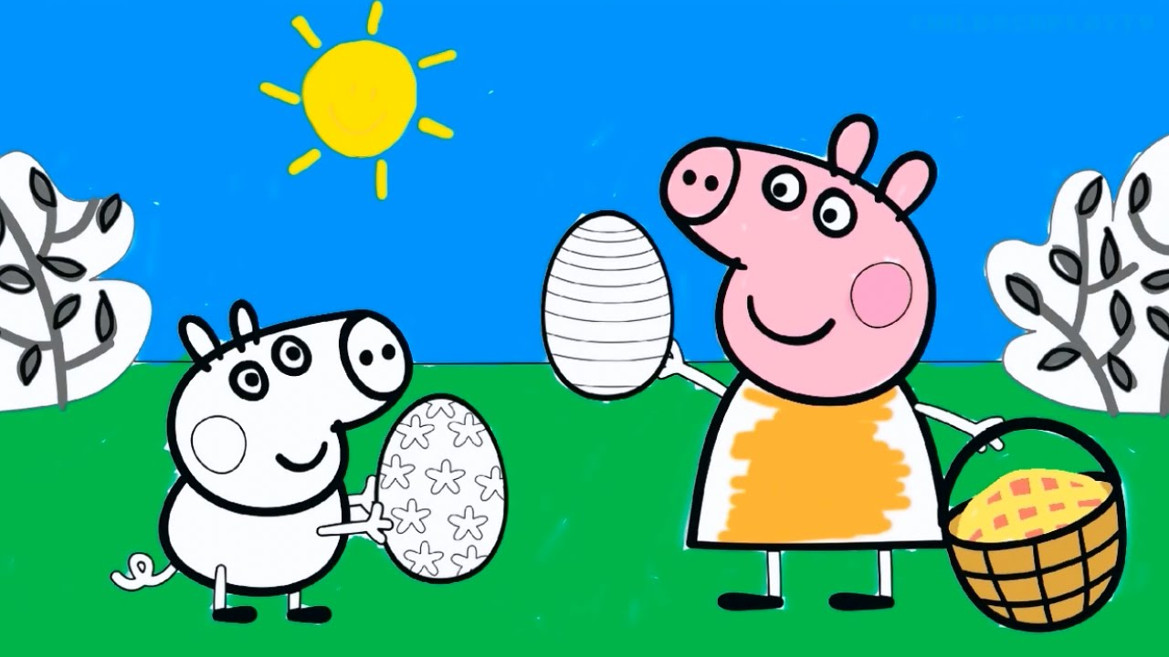 Peppa Pig Coloring Pages - Peppa Coloring Book - YouTube