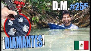 Encontré DIAMANTES 💎 en el fondo de un RÍO en México - Detección Metálica 255