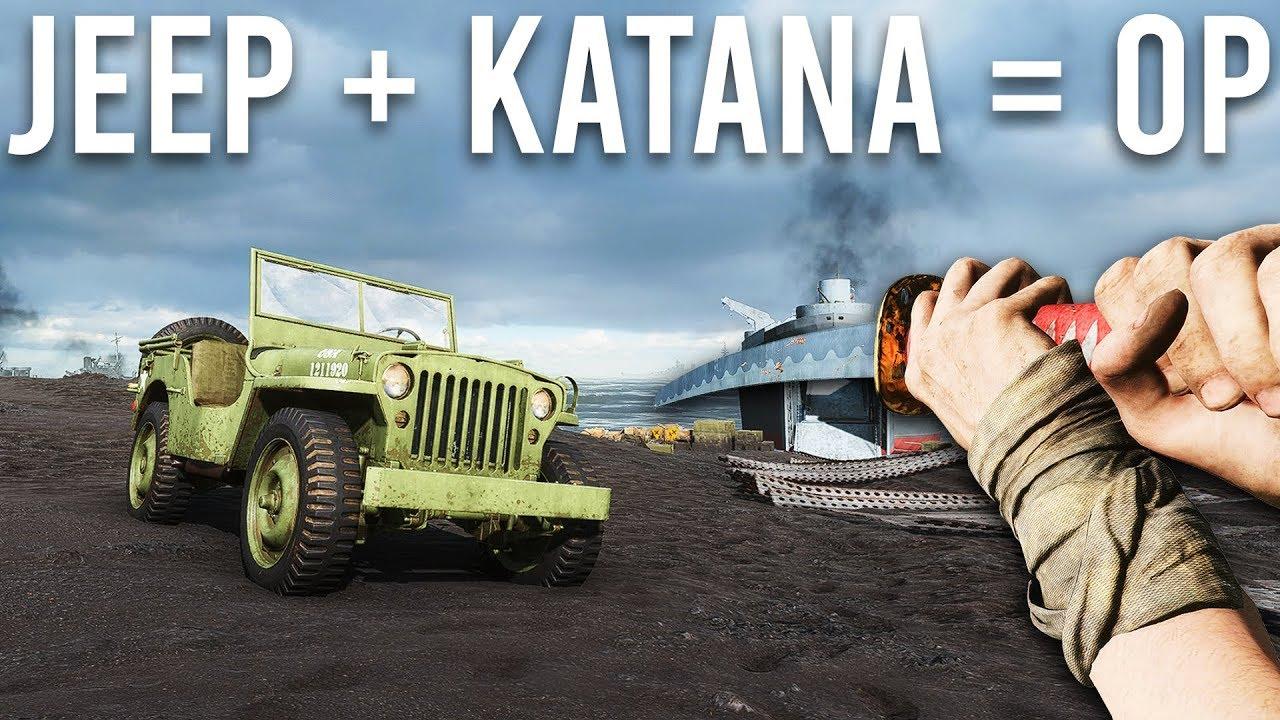 Battlefield 5 mais j'utilise uniquement une Jeep et une Katana + vidéo