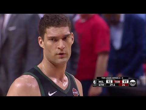 Brook Lopez All Game Actions 05/25/19 Milwaukee Bucks vs Toronto Raptors Game 6 Highlights