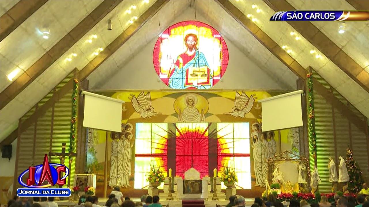 47e5839fb Em São Carlos, igreja São Nicolau realiza missa de natal - Jornal da Clube  2ª Edição (25/12/2017)