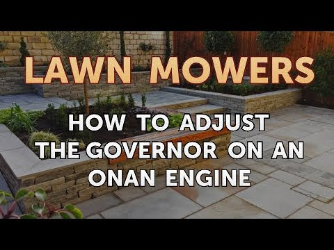 How to Adjust the Governor on an Onan Engine