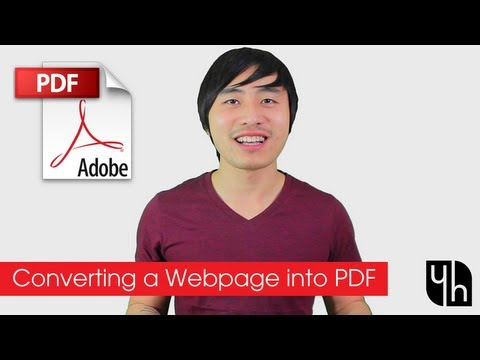 How To Convert A Webpage Into PDF (Using Adobe Acrobat)