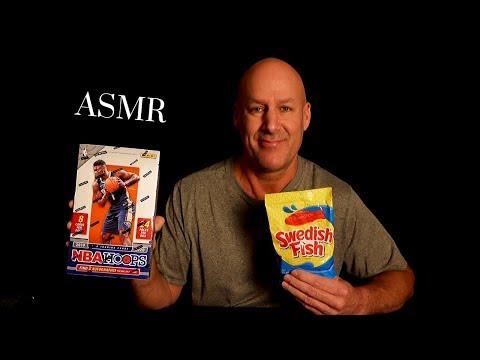 ASMR: NBA Basketball Cards And Swedish Fish~Soft Spoken~NBA Hoops Hobby Box