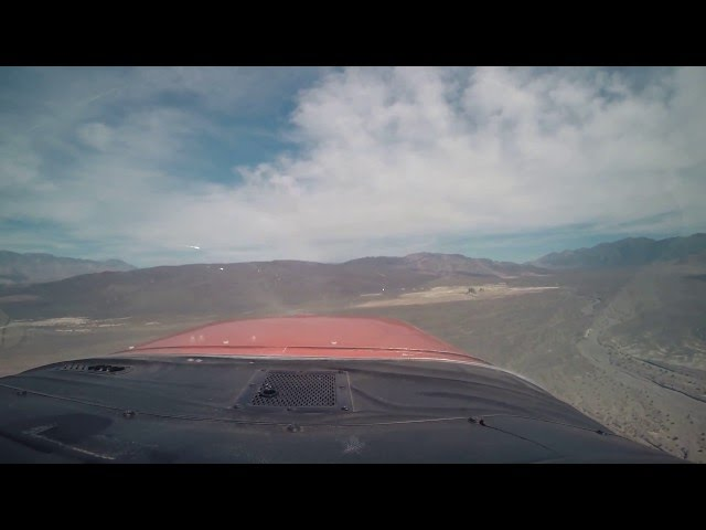 Saline Valley (Chicken Strip) Landing in Cardinal RG II