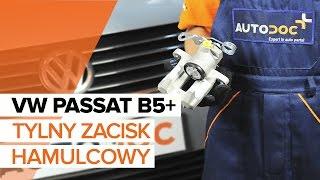 Jak wymienić tylny zacisk hamulcowy w VW PASSAT B5+ [TUTORIAL]