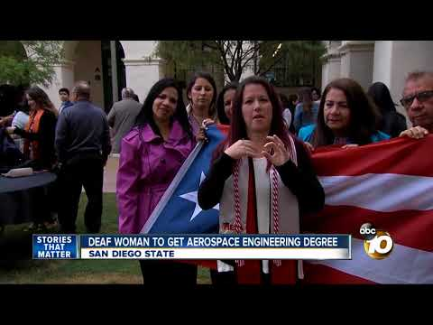 First deaf woman to get Aerospace Engineering degree