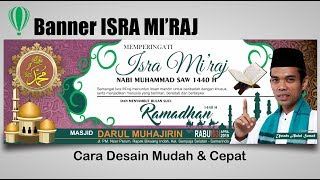 Desain Spanduk Isra Mi'raj 1440 H Dengan Coreldraw - Isra Miraj Banner
