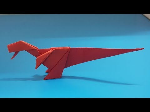 ORIGAMI - Gấp Khủng Long Tyrannosaurus T-Rex || How To Make Dinosaur Tyrannosaurus