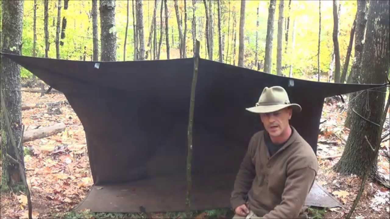 A Woodsman Standard (Woodsman Trail Tarp Set Up) & A Woodsman Standard (Woodsman Trail Tarp Set Up) - YouTube