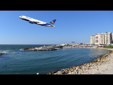 Take off from Borg El Arab Airport Alexandria, Egypt - الاقلاع من مطار برج العرب الاسكندريه