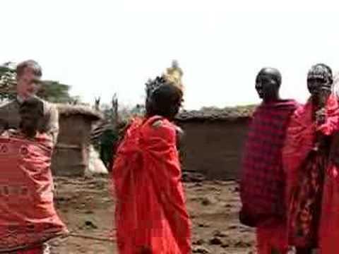 Jumping Masai plus english tourist!