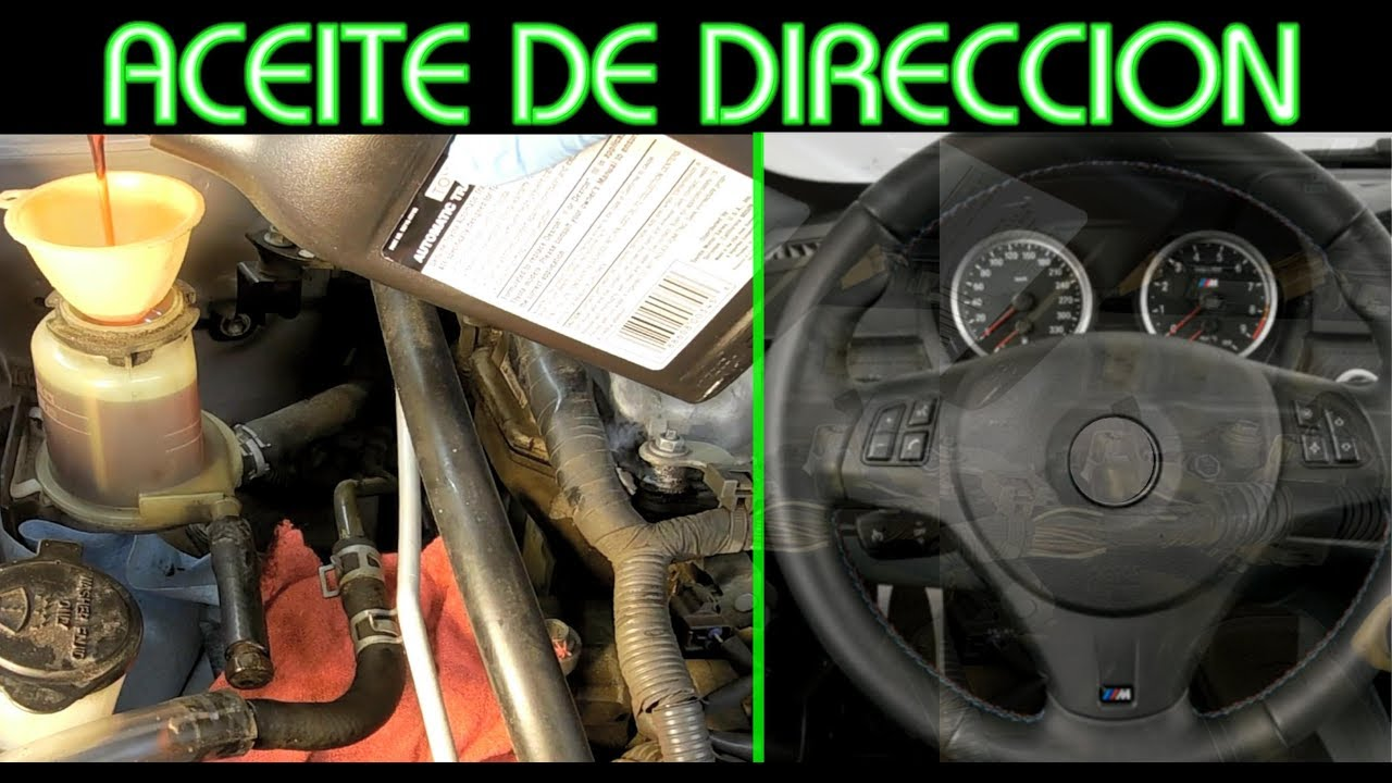 Como cambiar aceite de direccion hidraulica y como sacar - Como sacar aceite del piso ...