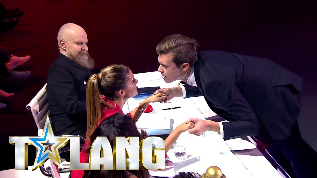 Bianca Ingrosso i chock efter iögonfallande korttrick i Talang - Talang (TV4)