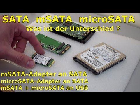 SATA microSATA mSATA - Adapter? - Was ist der Unterschied?