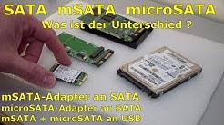 SATA microSATA mSATA - Adapter - Was ist der Unterschied