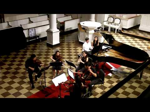 Sextet (2010) for Clarinet, Strings and Piano by Sheridan Seyfried, I. Energico