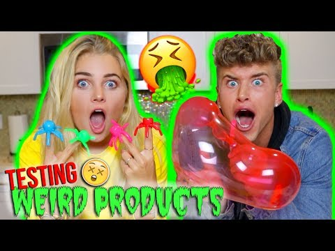 TESTING THE WEIRDEST PRODUCTS!!! *hilarious reaction*