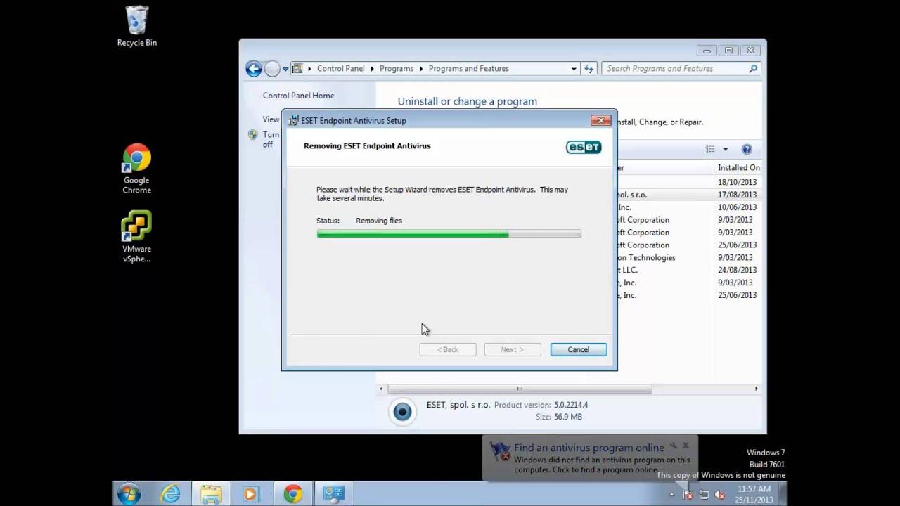 eset removal tool windows 7