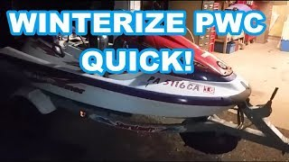 How to winterize your Jetski or PWC    quick and easy