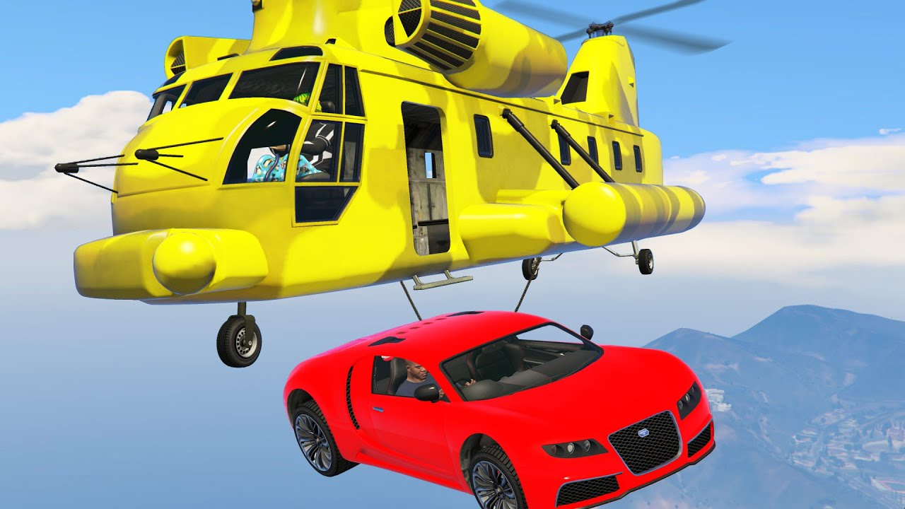 Yoinking Supercars In GTA 5 With My Helicopter Hehe