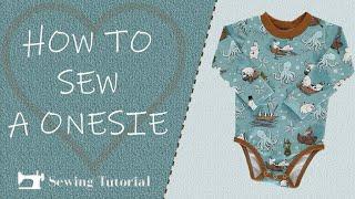 How To Sew Baby Onesie   Tutorial   diy   free Pattern